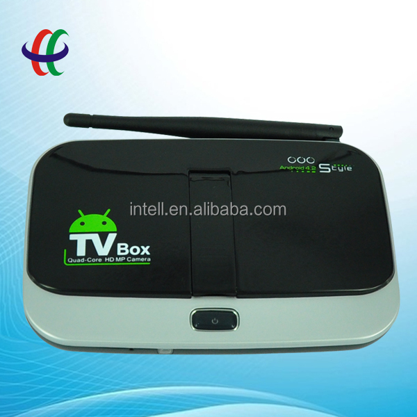 high quality hd smart android tv box cs 918 with Multi language support xbmc, wifi, 3G, 3D