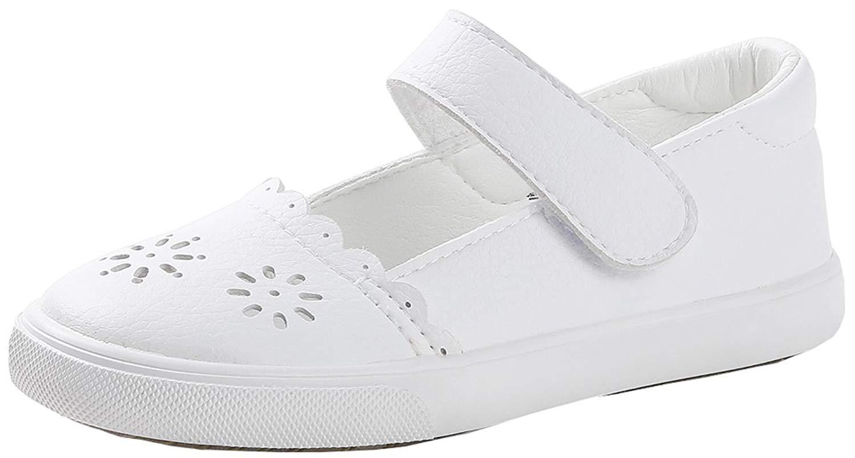 Vecjunia S Dressy Flats Shoes Cut Out Flowers Hook And Loop Anti Slip