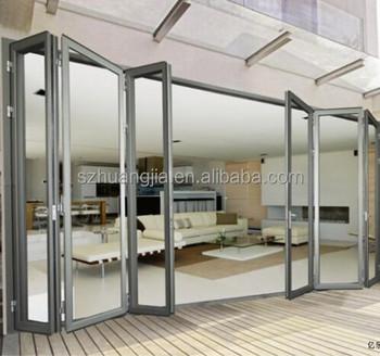 Folding Glass Door Sliding Door,tempered Glass Door,aluminum Frame Folding  Door
