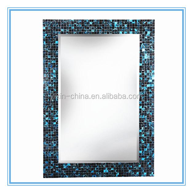 wand decor geh rtetem mosaik bernstein glas fliesen rahmen spiegel f r hochzeit oder. Black Bedroom Furniture Sets. Home Design Ideas