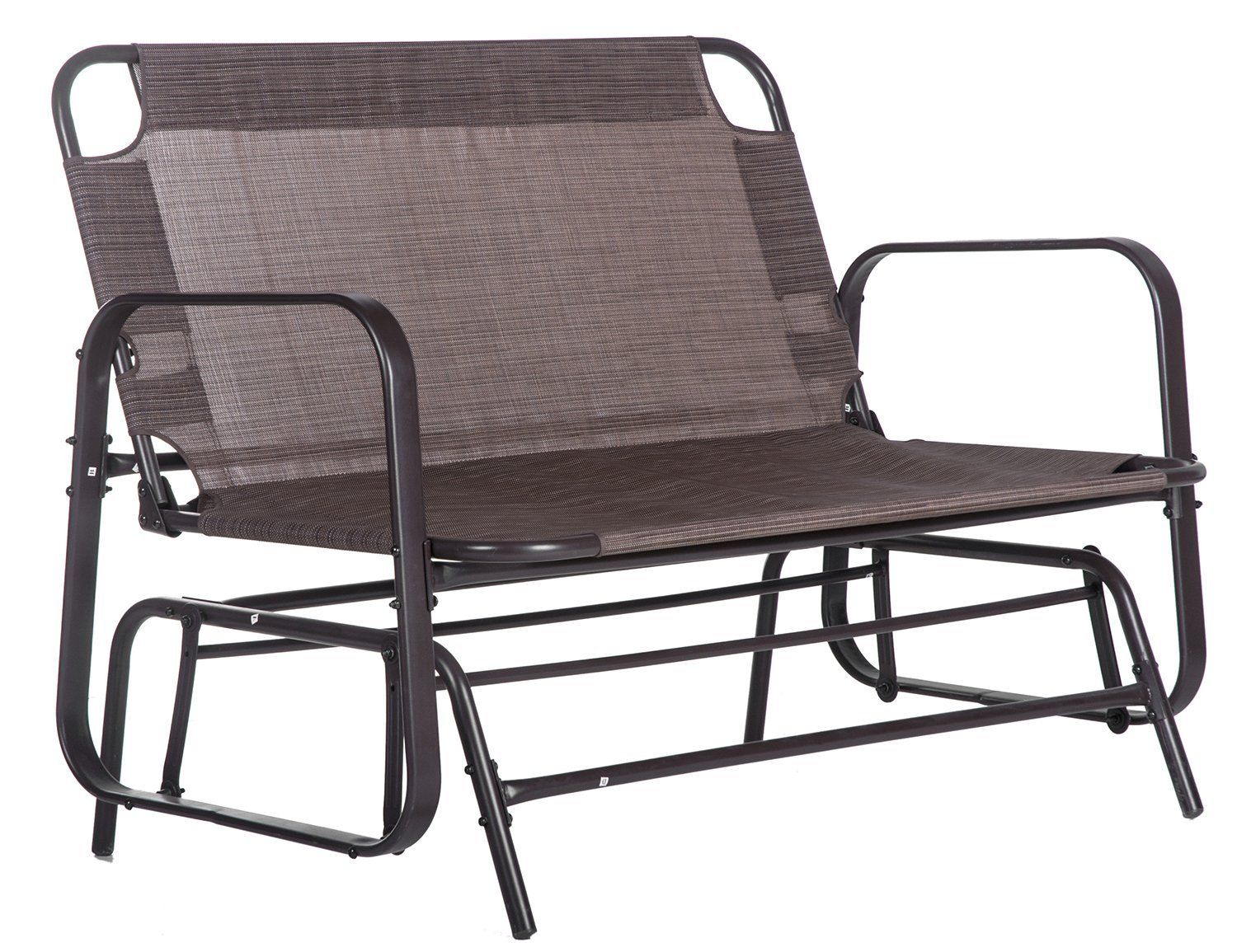 Merax Patio Loveseat Glider Rocking Chair Garden Outdoor