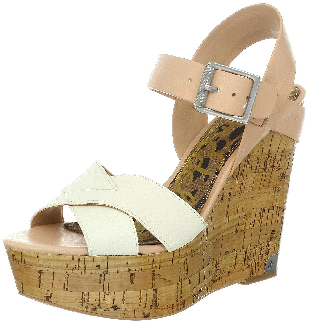 81780d811c7996 Buy Sam Edelman Javi Peep Toe Wedge Sandals Shoes Womens in Cheap ...