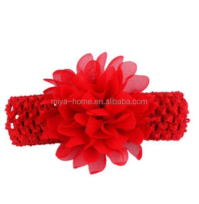 Hot selling Newborn Baby Hair Flower Headbands / flower hair band / Baby Hair Accessories