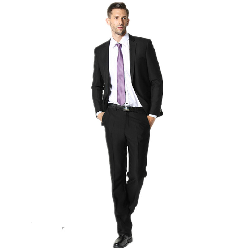 Han edition cultivate one's morality men dress suit black ...