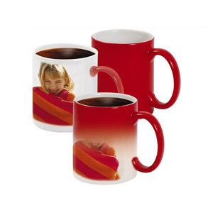 Magic gift 11oz hot water heat sensitive color changing mugs