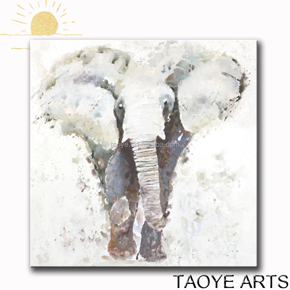 Popular Home decoration Wall Art Handmade Painting Elephant Oil Painting on Canvas