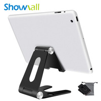 Portable folding adjustable smartphone tablet holder table metal stand 270-degree rotation aluminum