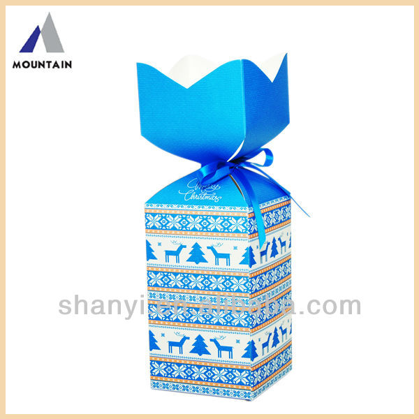 Mountain cardboard cookie gift boxes