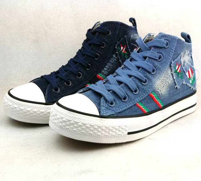 Girl Student Jeans Canvas School Shoes