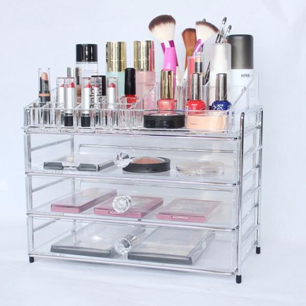 2 set metal frame acrylic makeup organizer.jpg