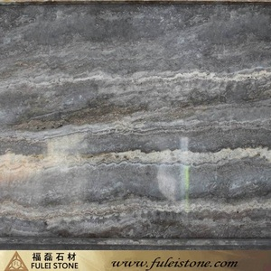 Popular Building Material Silver Rattle Skin Travertine Slabs