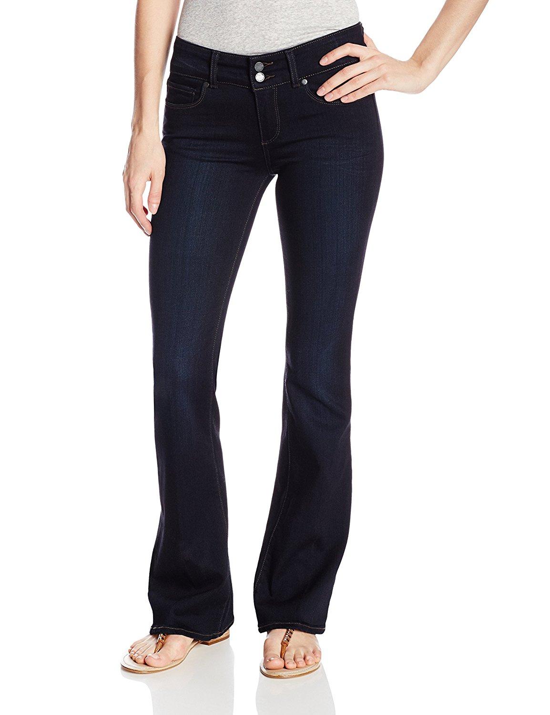 PAIGE Women's Petite Size Hidden Hills Boot Jeans-Mona