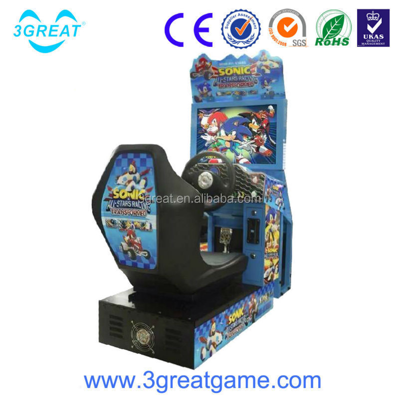 3D sonic kids racing game machine for selling