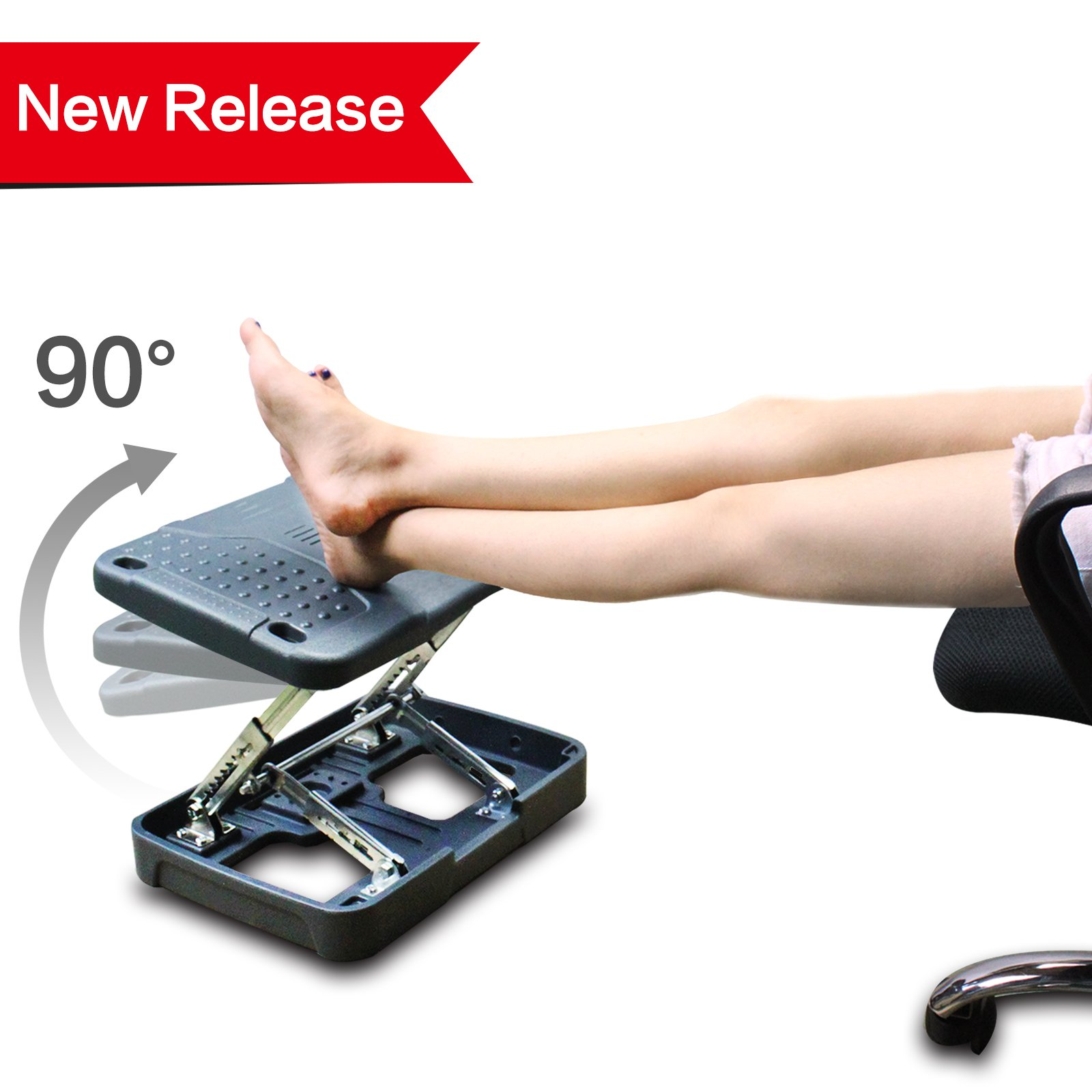 2018 Ergonomic Comfort High Adjustable Footrest New Pebbles Therapy Technique Massage Footrest Automatic Lifting High Footstool