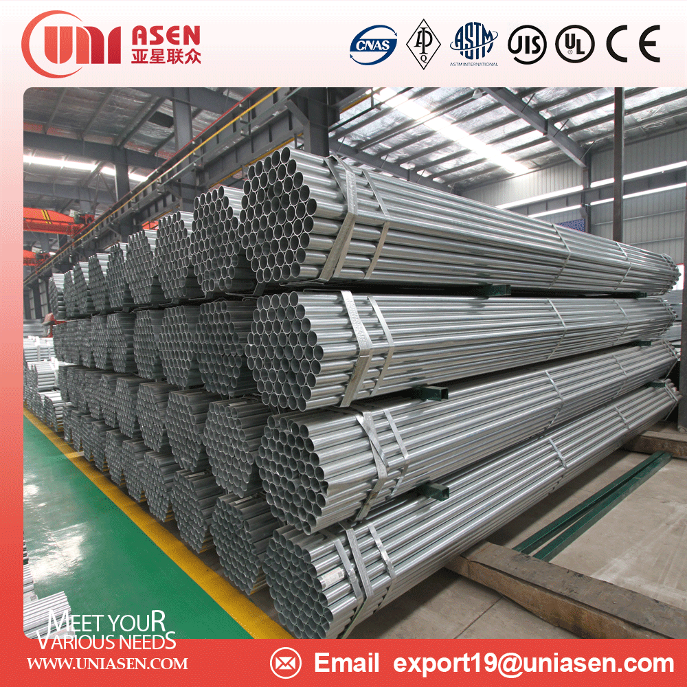China Factory DIN 17175 Hot Dip Galvanized Steel Pipe or Pre-galvanized steel pipe for Water Conservancy