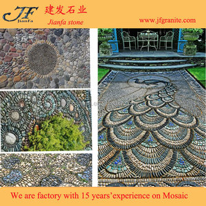 Garden Path Design Pebble Stone Carpet Mosaic Tile