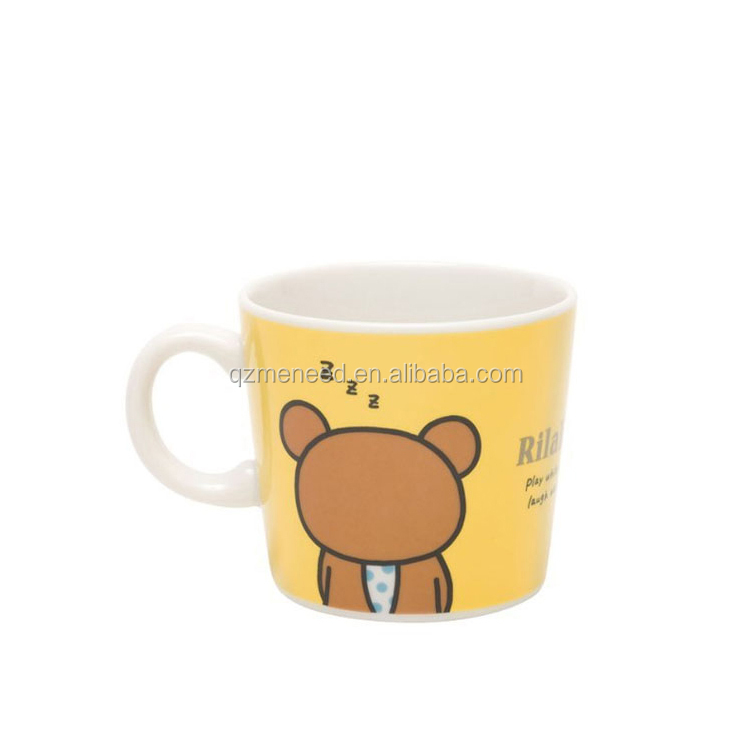 Eco-friendly Using with Cartoon Design Melamine Mug with Handle