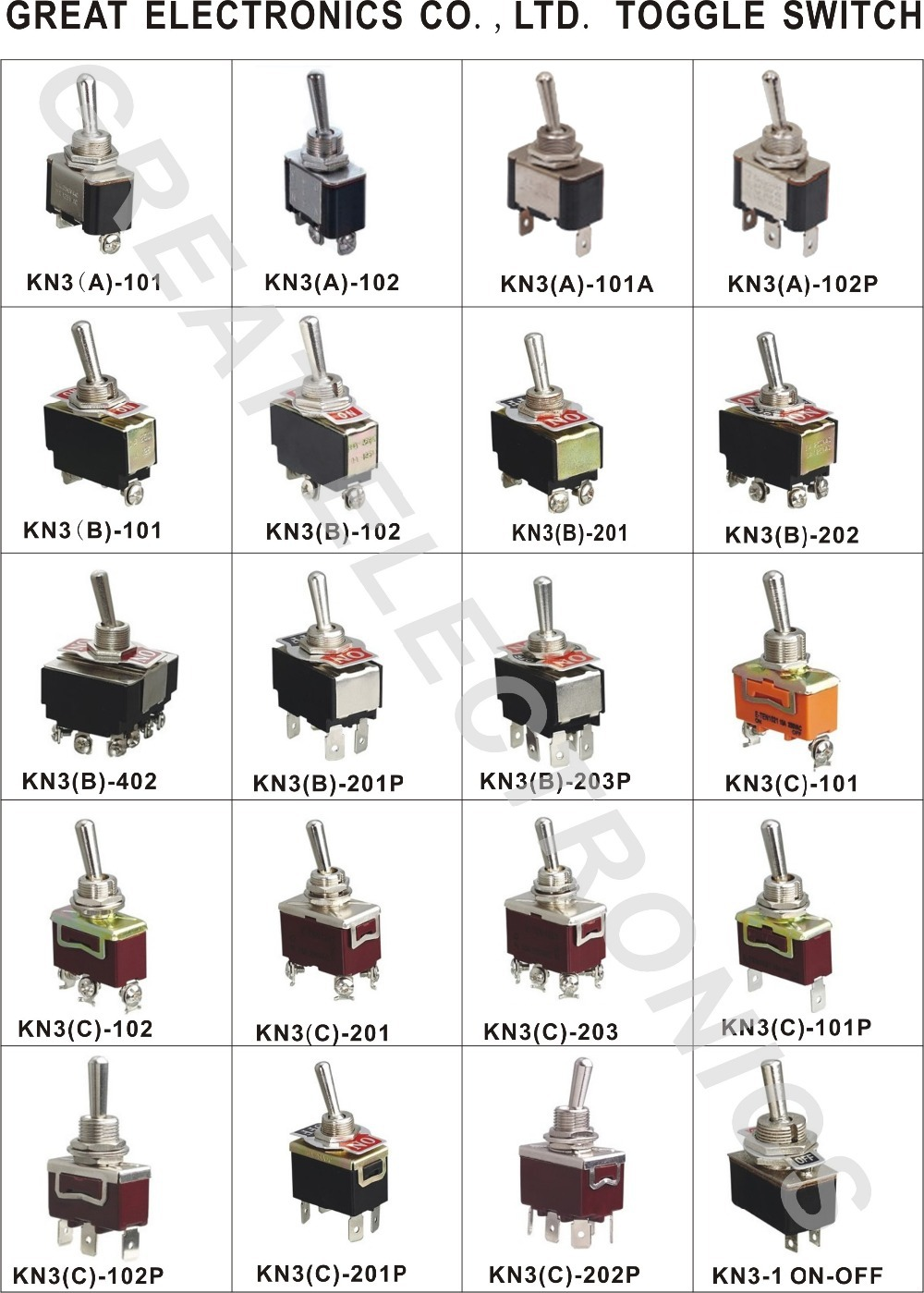 Pins ON OFF ON ON ON Micro Changeover  Way Mini Toggle Switch - 3 way switch electronics