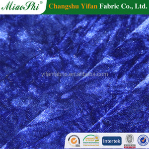 92% polyester 8% spandex four way velvet ruffled dyed fabric in changchu,factory is in Changshu.company is in keqiao
