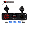 Xracing NM-JY-013 USB Socket Power Universal fits for 12V Vehicle, Motorcycle, ATV, Boat, Car or Marine Dual USB car charger
