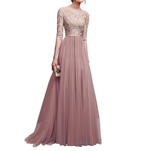H20045A high quality long sleeve maxi evening dress party chiffon gown