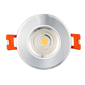 Chrome Color Epistar 3w Led Puck Lights Focos Empotrar En El Techo Led 50mm Cutout 30 Beam Angle