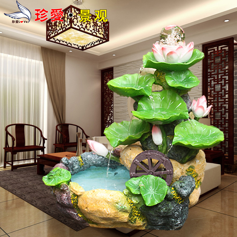feng shui wheel water fountain air humidifier crafts home decoration fish tank water features on. Black Bedroom Furniture Sets. Home Design Ideas