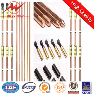 electrical solid copper bonded steel earth rod