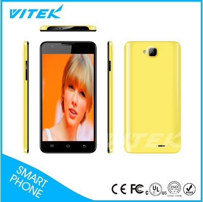 The Newest 5 inch Touch Screen 2 Sims Quad Core Unlock Cellphone