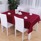 Factory Wholesale Hotel Restaurant Banquet Party Table Linens Wedding Damask Polyester Jacquard Tablecloth 60x84 Inch