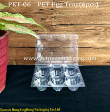 Disposable PET Plastic Egg Tray(6 Holes)