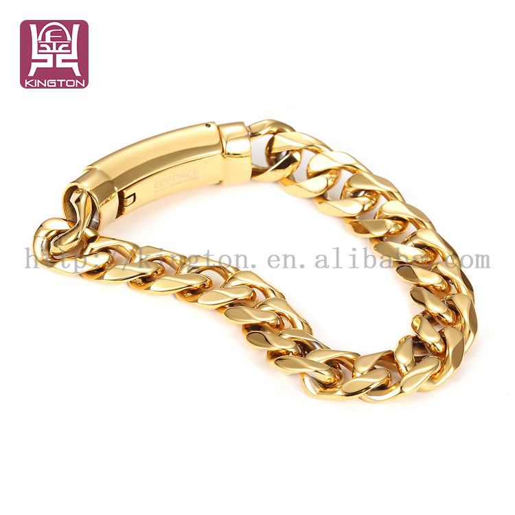 Extra Long Fancy 18k Gold Thin Chain Bracelet For Girls