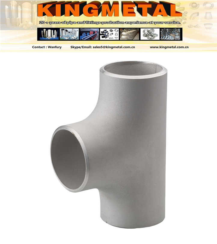 hot forming dn 200 pipe stainless equal Tee manufacturers