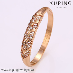 50918 modern gold plated indian jewelry velvet bracelet bangle
