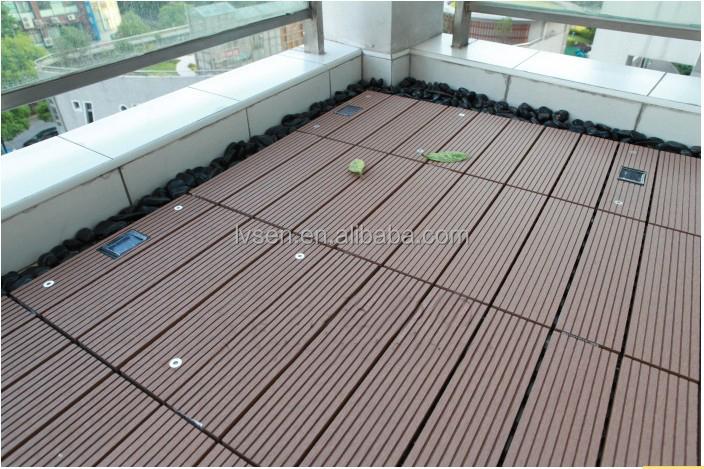 300x300 Wpc Diy Decking Tile Interlocking Composite Deck Tiles For Balcony Veranda Corridor Garden Board
