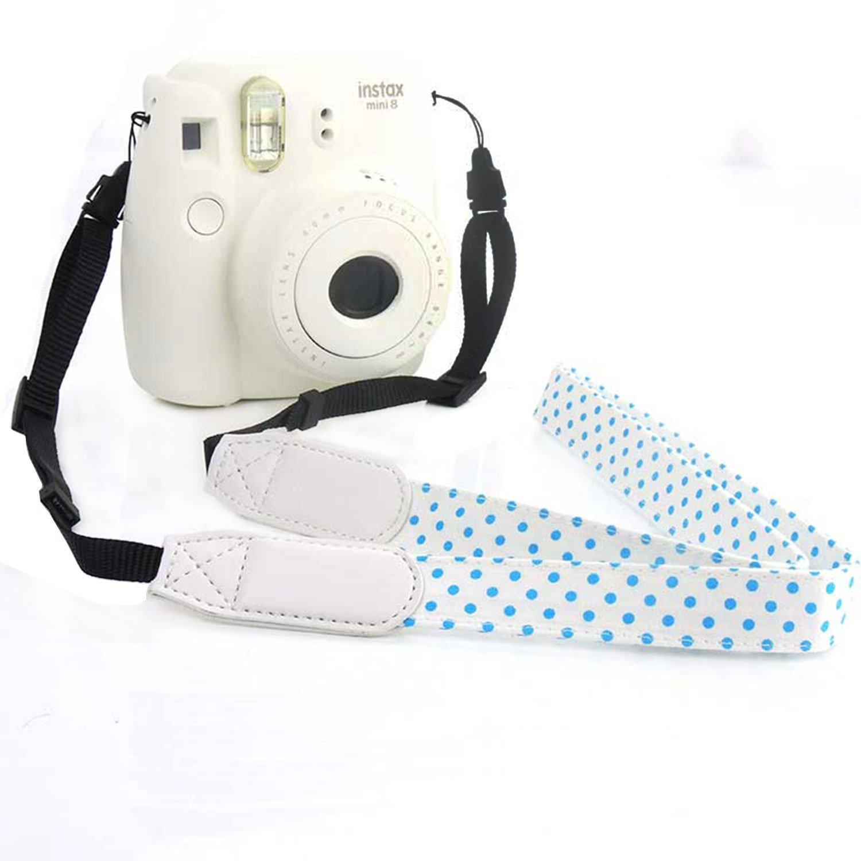 CHMETE Dot Print Universal Camera Neck Strap for Fujifilm Polaroid Instax Mini (White)