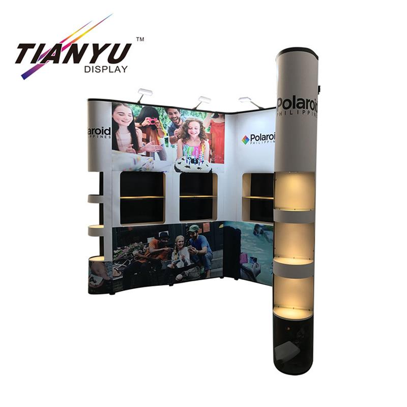 low price china mobile phone wall frames pop up backdrop