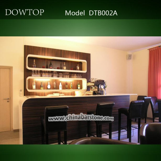 Corian moderno y de madera de vino de dise o barras de bar for Modelos de bares de madera