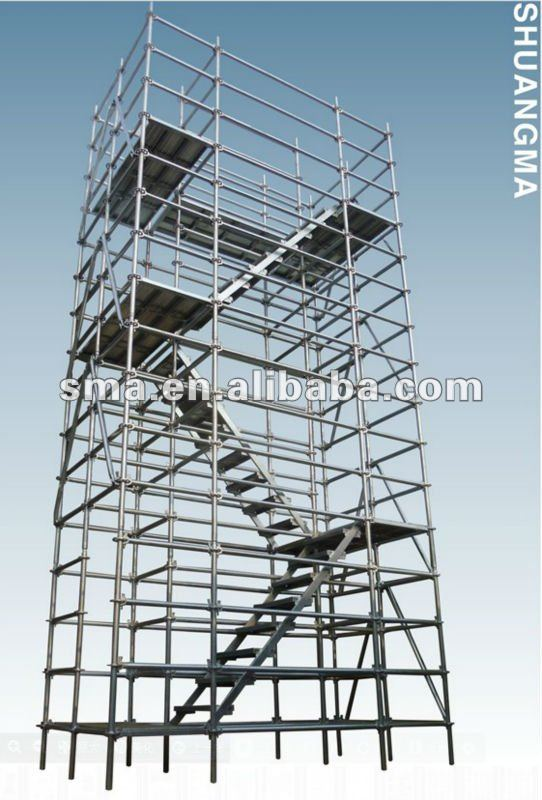 Recycling modular easy assembly all-round ring lock scaffolding system