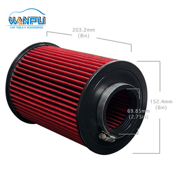Red Super Power Flow Universal Car Washable Air Intake Filter high quality manufacturer supply directly car air filter