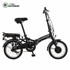 EUROBIKE 16'' Single Speed Folding E-BIKE, 36V*8.8Ah