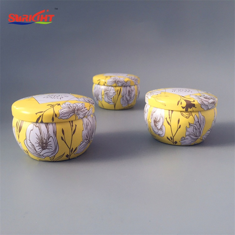 Luxury Best Custom Printed Flower Home Decoration Scent Tin Candles