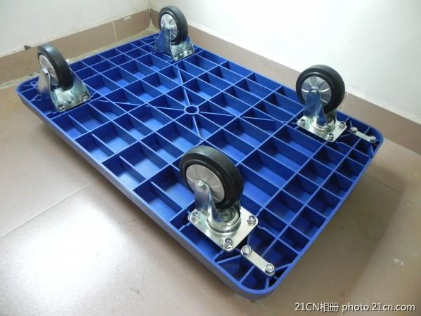 Folding Plastic Platform Hand Trolley with Super Silence Wheels