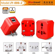 Competitive Price Electrical Plug 100V-240Vac Power Adaptor Dual USB Travel Adapter for Samsung
