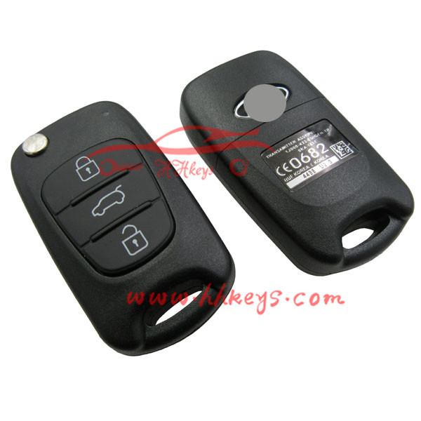 Smart Flip Car Key Blank Custom 2016 Ka Optima Hybrid Ignition Key