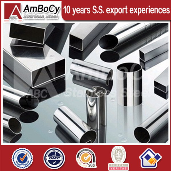 Mirror Polished 430 Stainless Steel Square Tube Mill for Handrail