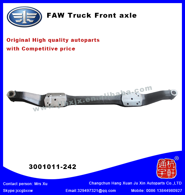 Original FAW Truck Front Axle ,with competitive price,3001011-242