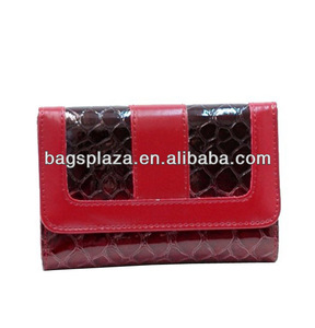 WA5061 Promotion guangzhou PU snake wallets mini wallet ladies hard case wallets