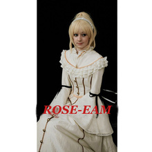 Rose Team-Free Shipping Custom-made Medieval Victorian Gown Costume Beige Gothic Punk Dress Costume