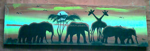 Oil painting art of African wild animal